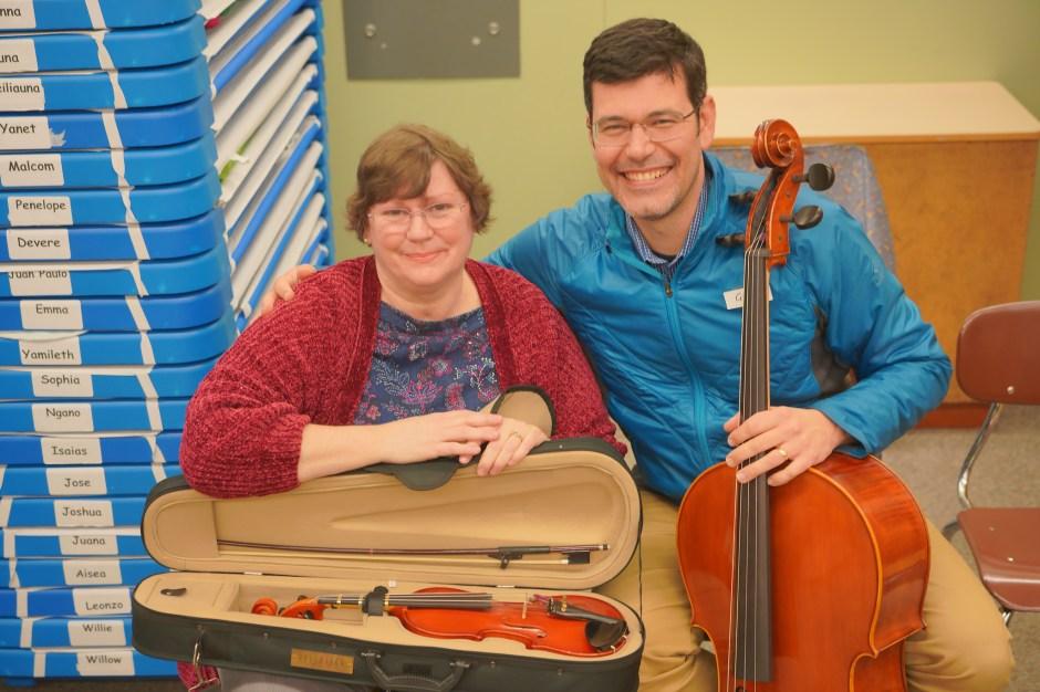 A cello, a violin, a final grace note