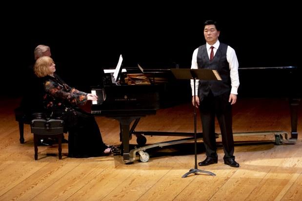 Composer Jodi French accompanied Nomura. Photo by Chava Florendo, courtesy of Anima Mundi.