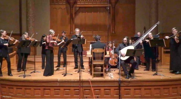 Portland Baroque Orchestra livestream March 2020. Photo by Rick Simpson.