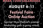 Sunriver Music Festival virtual gala online auction August 6-11, 2020 Festival Faire