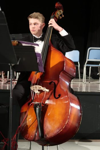 "Zac Will, a junior at Taft 7-12, plays with the Taft Jazz Band and says having the expert music technicians available ""opens up opportunities for everybody."" Photo courtesy: Music Is Instrumental"
