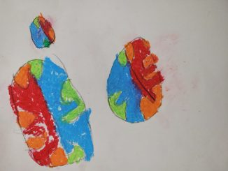 """Maci M. drew worlds divided in two: half on fire and half what she calls the """"regular world."""""""