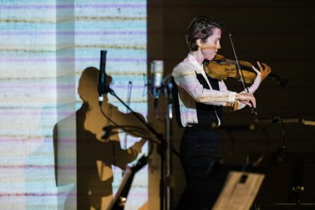 Caroline Shaw performing at New Expressive Works in March 2020. Photo by Kenton Waltz.