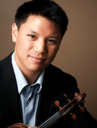 Violinist Alistair Kok will host Newport Symphony Orchestra musicians in his home for a virtual Valentine's Day concert.