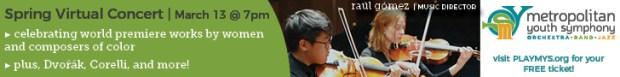 Metropolitan Youth Symphony Virtual Spring Concert