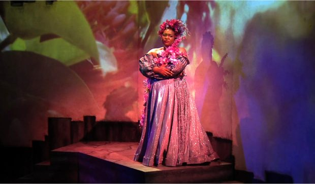 Soprano Leah Hawkins performing 'Songs for the African Violet.' Photo courtesy of Portland Opera.