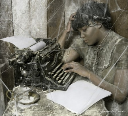 """""""She Wrote Nothing At All,"""" by Jamila Clarke (limited edition archival digital print, 10 by 12 inches)"""