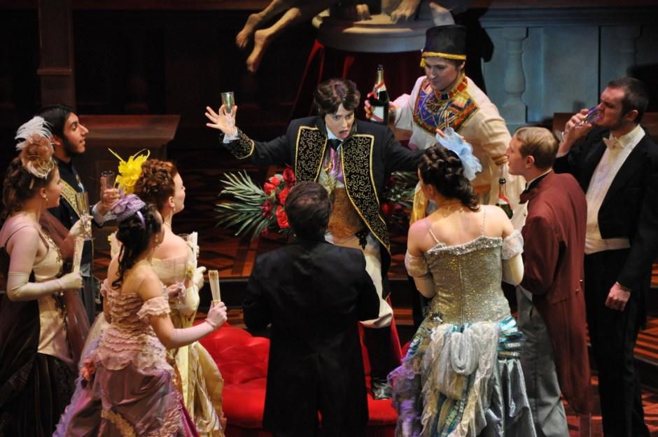 Neher as Prince Orlofsky in 'Die Fledermaus', Martha-Ellen Tye Opera Theatre, Iowa City. Photo courtesy of the composer.