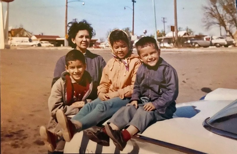 In 1963, Mantiri was photographed with her mother and brothers during the family's summer trip from Wisconsin to visit relatives in Oregon. On the family's cross-country trip in 1977, when she was 24, Mantiri met her husband and ended up settling in Oregon. Photo courtesy: Mantiri Family Archives