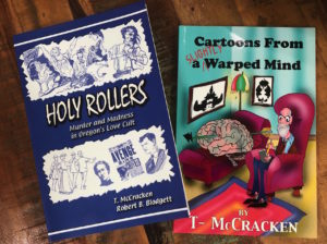 Theresa McCracken has published two books, a 2002 account of a murderous coastal cult and a 2012 compilation of her cartoons.