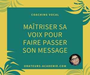 coaching vocal pour maîtriser sa voix