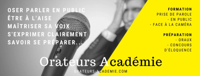 Bannière de Orateurs Académie
