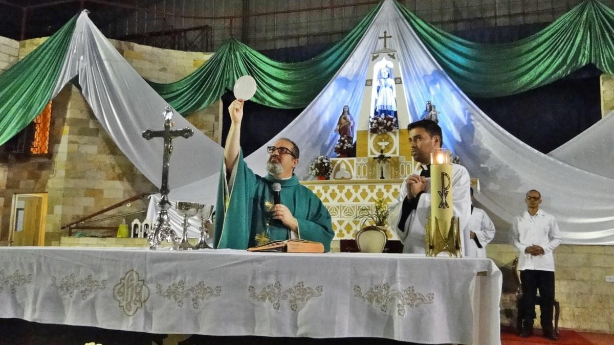 Pe. Cristiano Campelo preside celebração da Missa do 9º Dia da Novena de São Luiz Gonzaga
