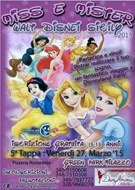 Milazzo. 'Miss e Mister Walt Disney Sicily 2015' al ritrovo 'Green Park'