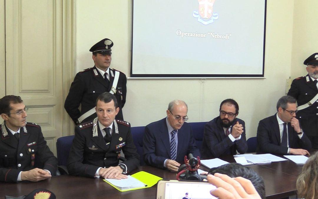 Operazioni dei carabinieri di Catania nei Nebrodi: 9 arresti