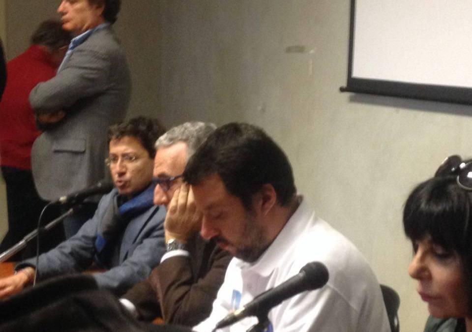Visita di Salvini a Messina. La Lega Nord adesso è a caccia di voti sudisti..