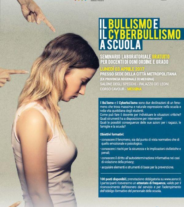 """""""Il Bullismo e il Cyberbullismo a Scuola"""", a Palazzo dei Leoni il seminario sulla diffusione del fenomeno"""