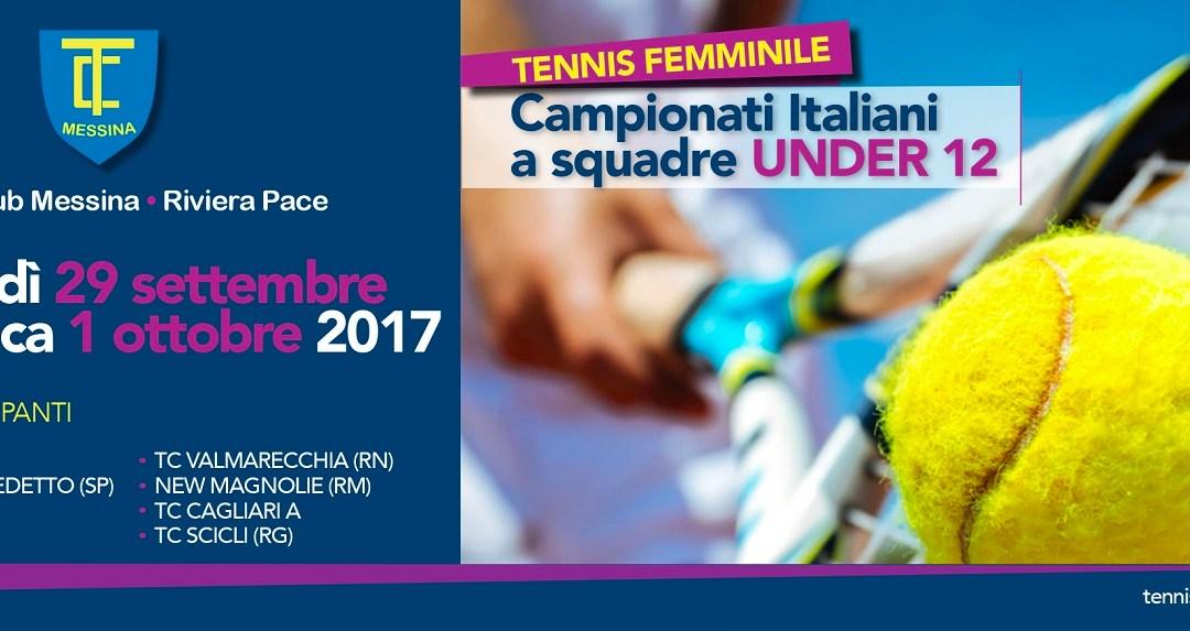 Messina. Al via fase finale dei campionati italiani di tennis a squadre femminili under 12