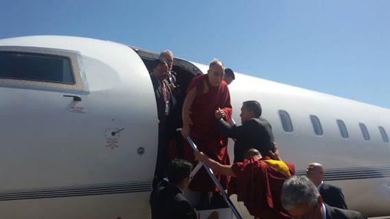 Taormina. Dalai Lama accolto da Renato Accorinti e Enzo Bianco