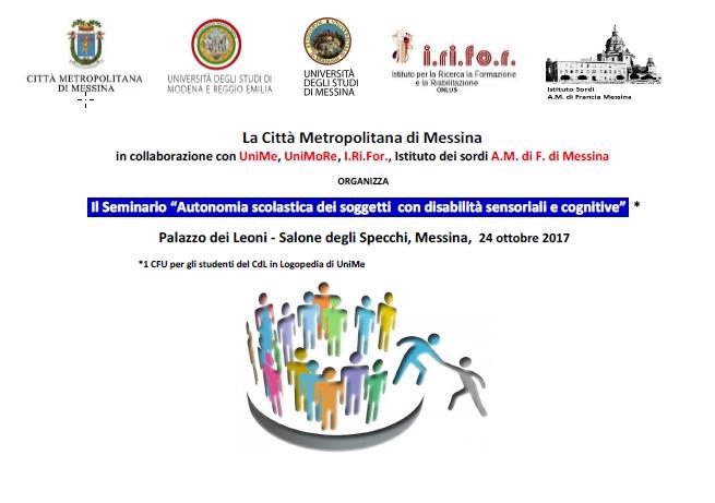 """Palazzo dei Leoni. Seminario su""""Autonomia scolastica dei soggetti con disabilità sensoriali e cognitive"""""""