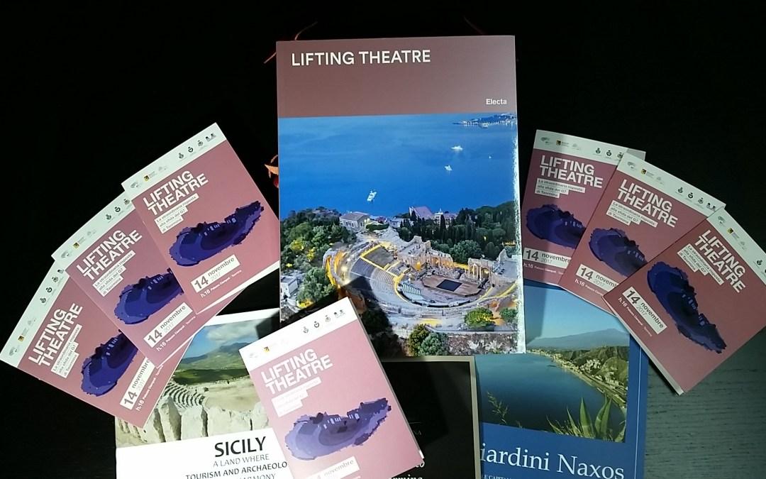 """Il Parco Archeologico Naxos-Taormina presenta volume """"Lifting Theatre"""" risposta alla sfida del G7 di Taormina"""