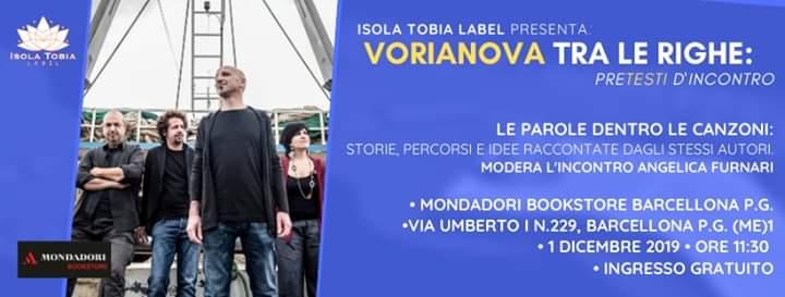 """Barcellona PG. Al via il progetto """"Cantautori tra le righe"""": i Vorianova al Mondadori BookStore"""