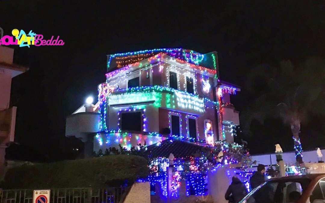Oliveri. La 'magia' della Casa di Babbo Natale, spettacolo di luci per grandi e piccini