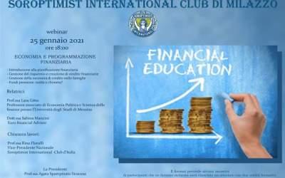 Webinar del Soroptimist International Club di Milazzo su 'Economia e Programmazione Finanziaria'
