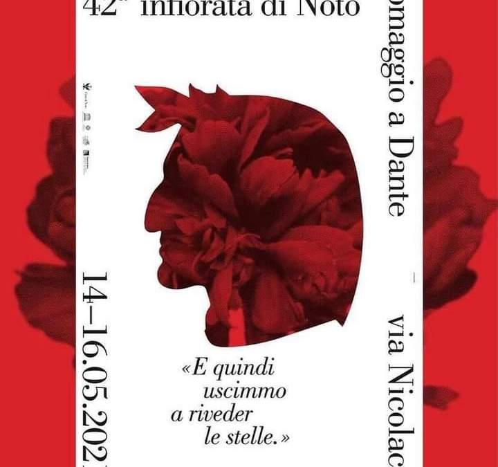 L'Infiorata di Noto 2021, omaggio a Dante Alighieri. Dirette su social e tv