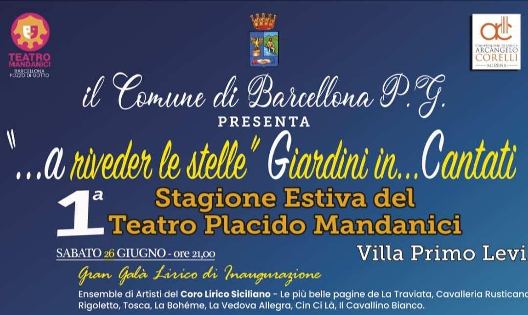Barcellona PG. Teatro Mandanici. Al via da oggi distribuzione biglietti gratuiti numerati per il Gran Galà di Inaugurazione della Prima Stagione Estiva