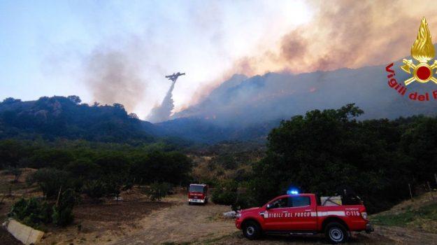 Sicilia assediata dal fuoco per 'mano vigliacca dei piromani': interventi senza sosta. E dal satellite, colonna di fumo da Palermo