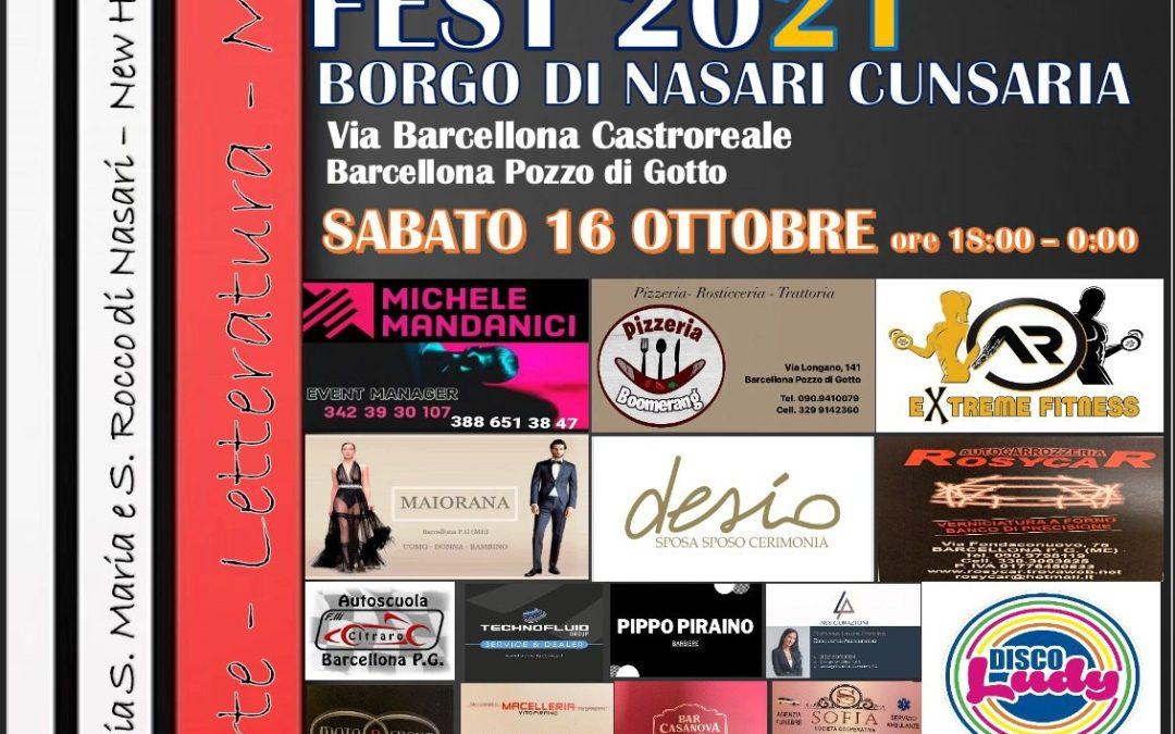 Barcellona PG. 'October Art Fest 2021' tra arte, musica e letteratura nel Borgo di Nasari