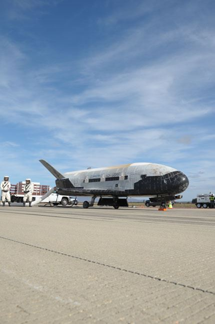 X-37B ORBITAL TEST VEHICLE-3 LANDS AT VANDENBERG AFB