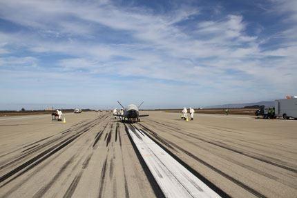 X-37B ORBITAL TEST VEHICLE-3 LANDS AT VANDENBERG AFB