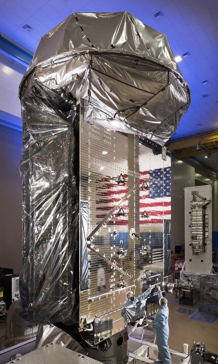 MUOS SV3, MUOS 5 preps for ship to Cape Canaveral for launch MUOS Space Vehicle 3 is the 5th and final satellite in the constellation.