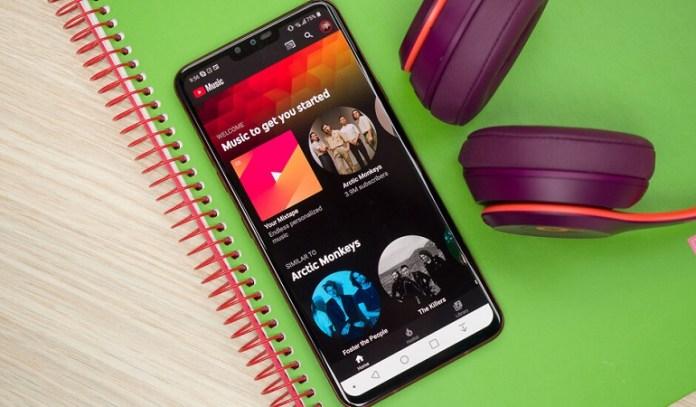 Display widget added to YouTube Music app