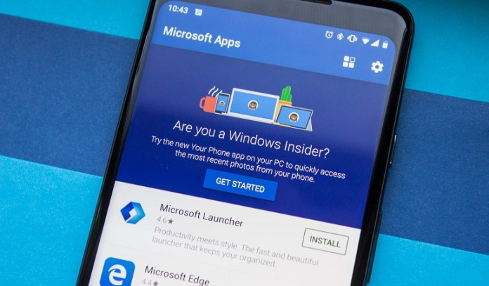 Microsoft Your Phone Windows 10 mobile application update application testing