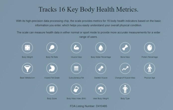 Amazfit Smart Scale Body Health Metrics