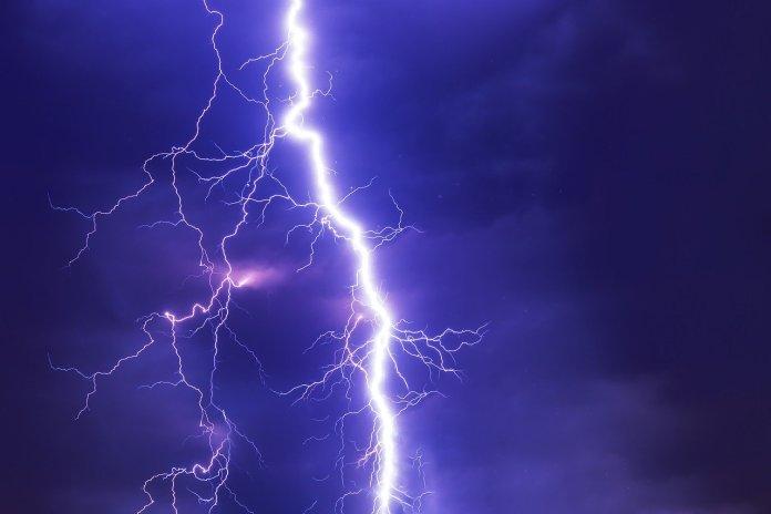 Michael Saylor. a thunder over a blue sky