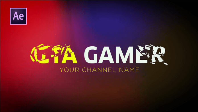 Game Channel Intro Logo Animation in After Effects - No Third Party Plugin
