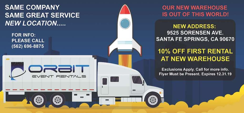 Orbit Event Rentals - New Office