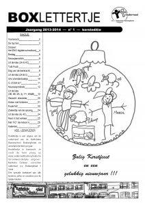 Boxlettertje - Eindejaar 2013