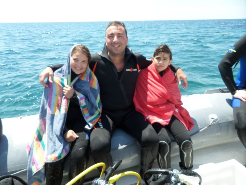 Salvatore con Mattia e Chiara