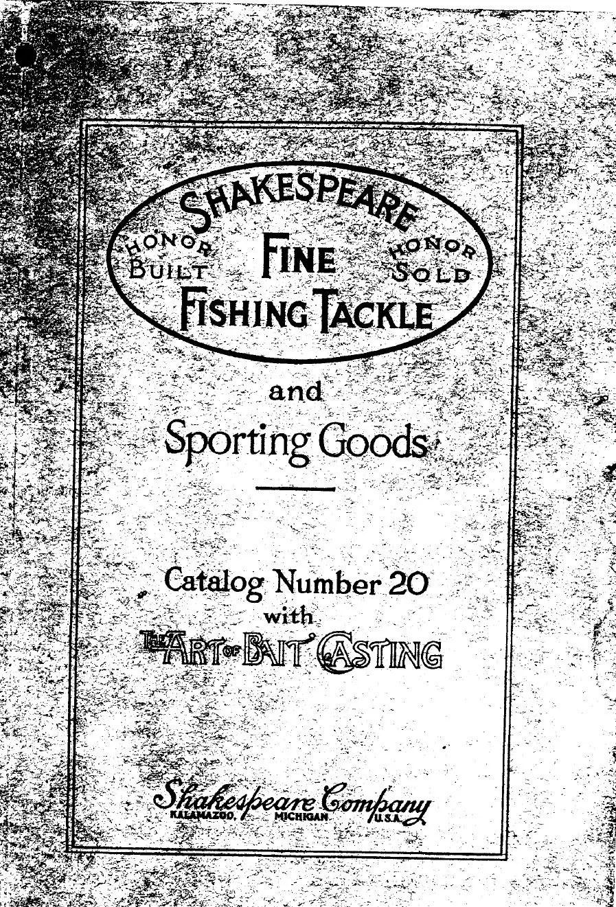 Shakespeare Catalogs