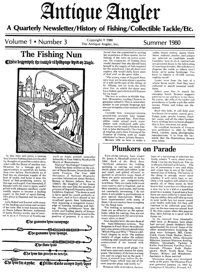 Antique Angler Newsletters
