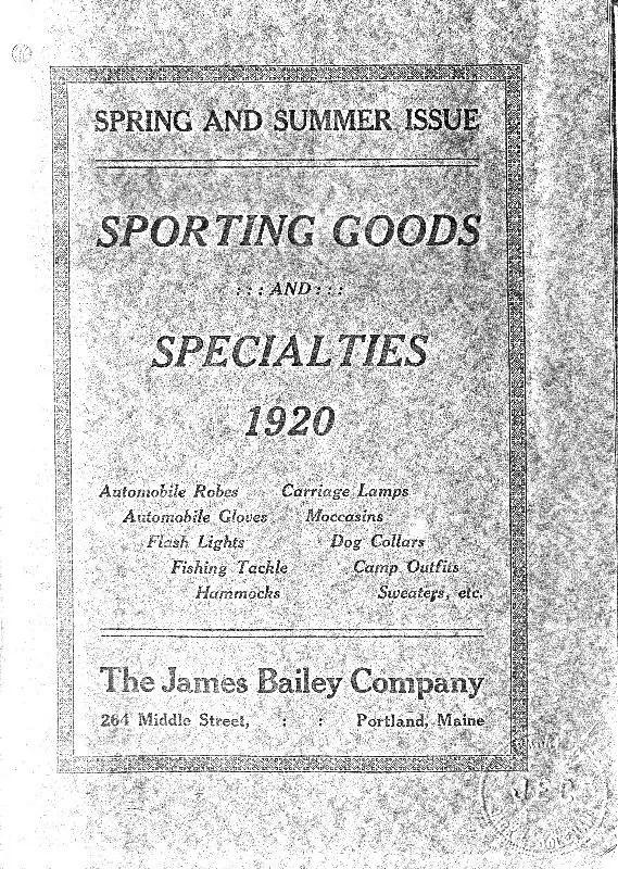 james bailey 1920 catalog cover