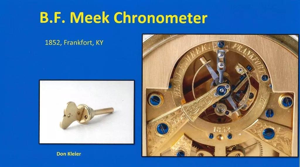 B. F. Meek Chronometer