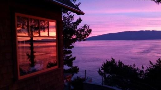 Sunset waterfront