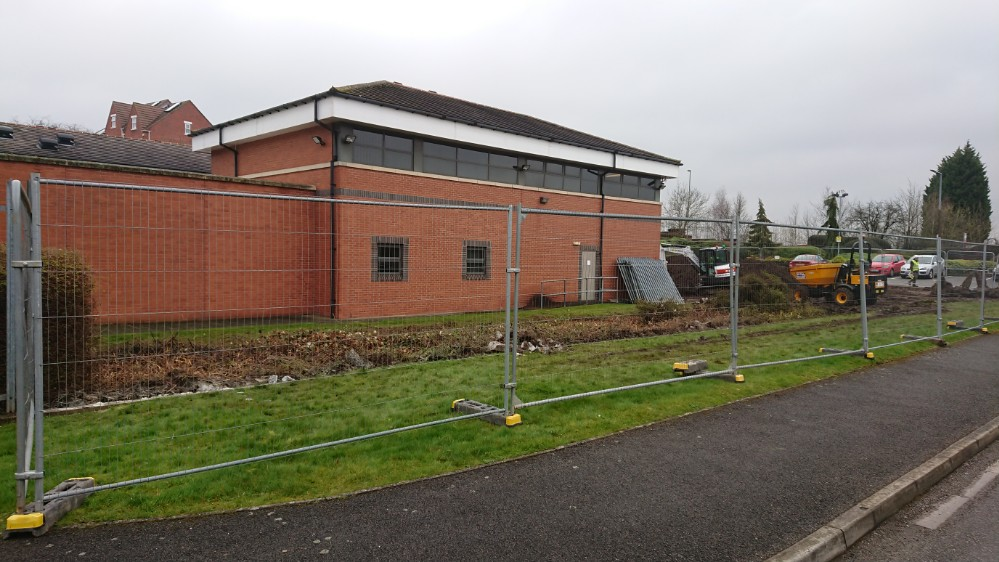 Shrub Clearance at Ilkeston Police Station After