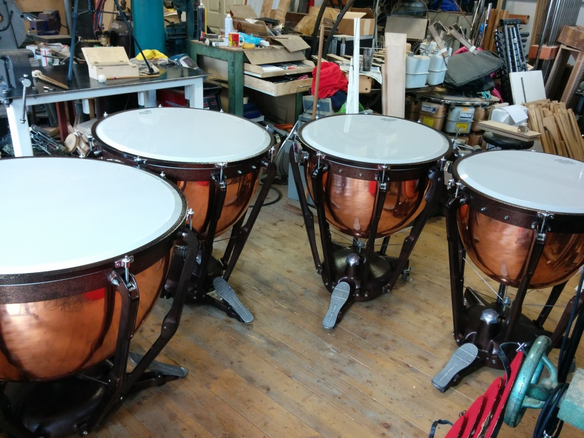 ludwig professional timpani for sale job no 1390 orchestral percussion. Black Bedroom Furniture Sets. Home Design Ideas